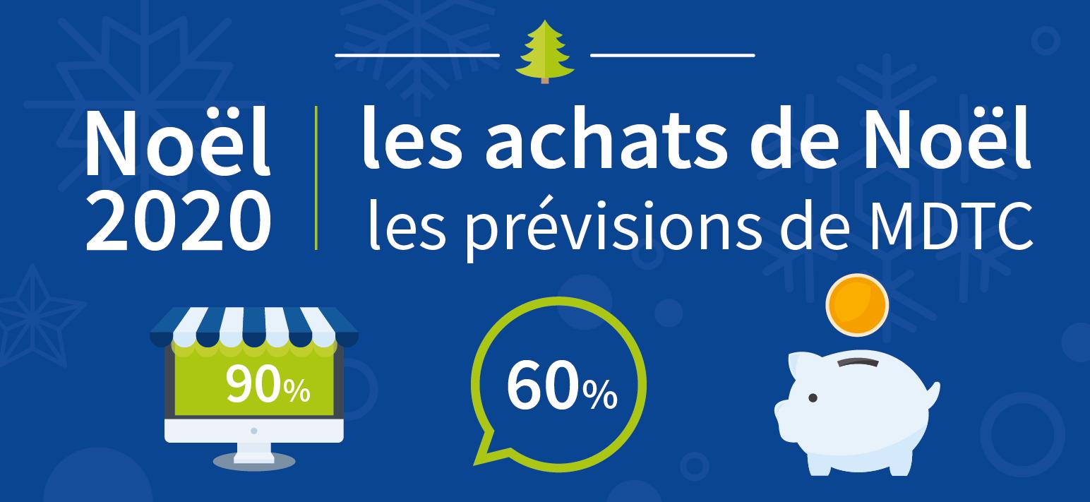 exposer les prévisions de MDTC au sujet des achats de Noël.