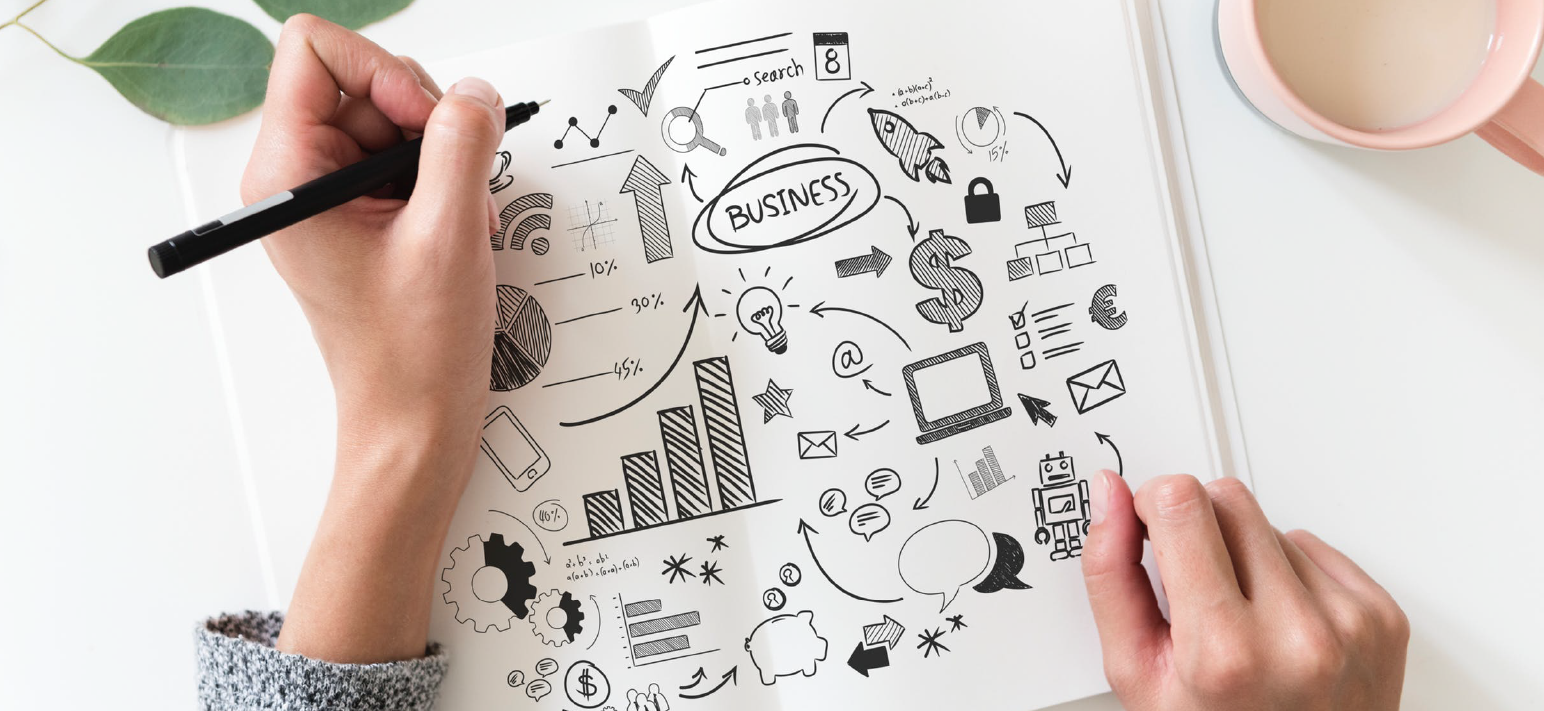 Fidéliser vos clients : carnet avec des dessins de plans d'actions