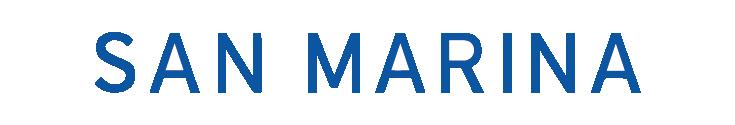 Logo de l'entreprise San Marina destiné à montrer qui sont nos clients dans le domaine de la Satisfaction Client.